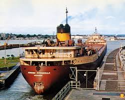 Edmund Fitzgerald Sinking Theories by 8x10 Color Photograph Freighter Edmund Fitzgerald Soo Locks Famous