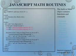 Javascript Math Ceil Floor by An Overview Of Html Css U0026 Java Script