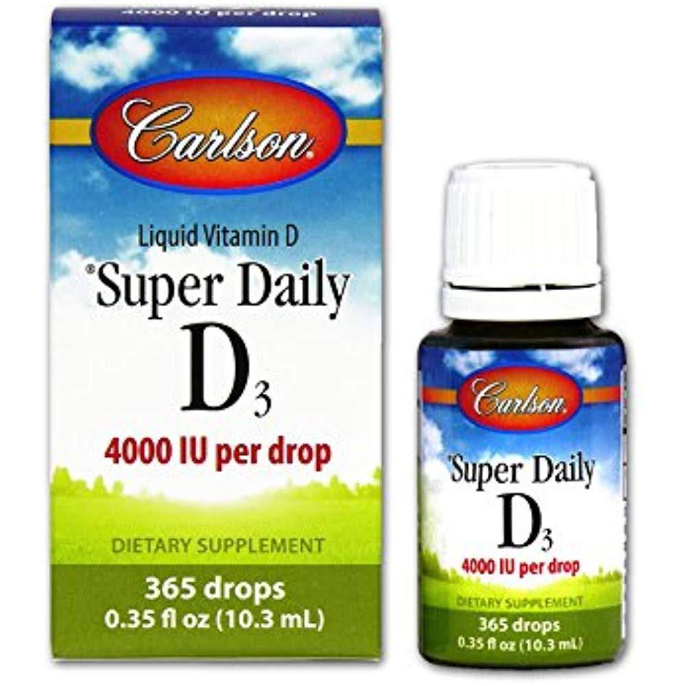 Carlson Super Daily D3 Liquid Vitamin D - 4000iu, 365 drops