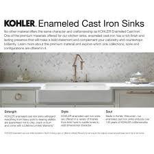 Kohler Sink Rack Biscuit by Kohler K 5863 4 96 Cape Dory Biscuit Drop In Single Bowl Kitchen