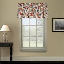 Jacobean Floral Curtain Fabric by Cornwall Thermal Insulated Tailored Valance Window Curtain With