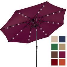 Walmart Patio Umbrellas With Solar Lights by Bcp 10ft Deluxe Patio Umbrella W Solar Led Lights Tilt