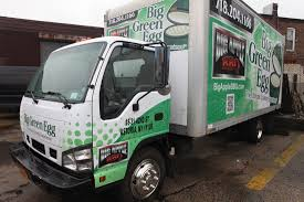 100 The Big Green Truck Egg Box Wrap Large Format Printing NYC NY City Wraps