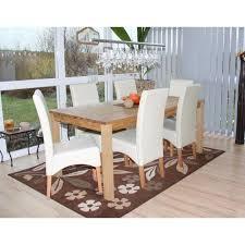 6x esszimmerstuhl küchenstuhl stuhl leder creme helle beine