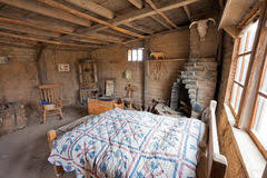 Wild West Historic Ranch House Interior Arizona Western Frontier Pioneer Simple Mud Brick Building
