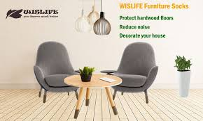 Rubber Chair Leg Protectors For Hardwood Floors by Amazon Com Wislife Brown Chair Socks With Non Slip Stripes Inside