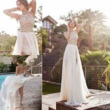 cheap 2016 in stock summer vintage beach empire wedding dresses a