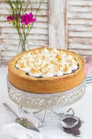 mohn marzipan kuchen mit baiser