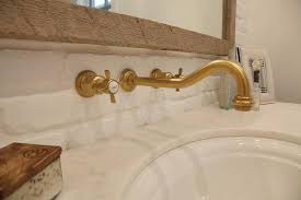 Polished Brass Bathroom Faucets Contemporary by Brass Gooseneck Faucet Design Ideas
