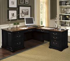 Realspace Broadstreet Contoured U Shaped Desk by Home Office L Shaped Desk Black Lshape Desk For Home Office Office