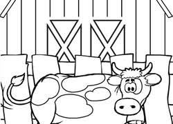 Cow Coloring Pages Printables