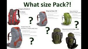 100 Atmos 35 What Size Hiking Backpack Visual Comparison By Onza04
