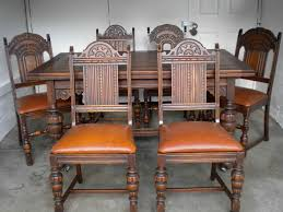 Antique English Oak Dining Table And 6 Chairs With Leather Bottoms ... Tiger Oak Fniture Antique 1900 S Tiger Oak Round Pedestal With Ding Chairs French Gothic Set 6 Wood Leather 4 Victorian Pressed Spindle Back Circa Room 1900s For Sale At Pamono Antique Ding Chairs Of Eight Chippendale Style Mahogany 10 Arts Crafts Seats C1900 Glagow Antiques Atlas Edwardian Queen Anne Revival Table 8 Early Sets 001940s Extendable With Ball Claw Feet Idenfication Guide