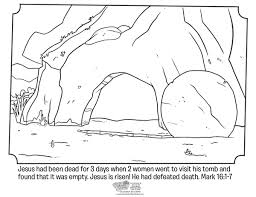 Empty Tomb Coloring Page From Whats In The Bible