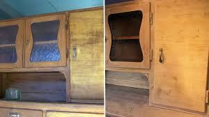 küchenschrank einfach selbst restauriert