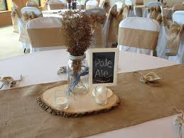 Rustic Wedding With Burlap Chair Sashes And Runners In Colored