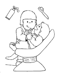 Nice Dental Coloring Pages For Preschool