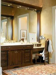 dual vanity with makeup counter houzz