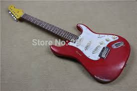 Custom Shop St Relic Guitar Handmade Aged Retro Stratcast Electric Classic Apple Red Real