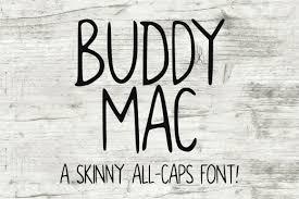 Buddy Mac A Skinny Double Caps Font