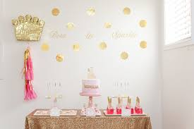 Pink And Gold Birthday Themes by Rebekah U0027s Pink And Gold Princess Party Lifes Little Celebration