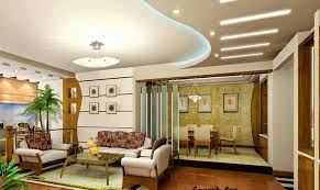 Elegant Gypsum Board Ceiling Ideas For Luxury Living Room Design With Traditional Sofa Set And LED Strip Lighting