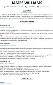 Bank Teller Resume Sample Resumeliftcom