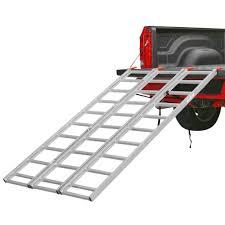 100 Truck Bed Ramp Full Width Aluminum 3Fold ATV Loading Walmartcom