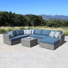 Sirio Patio Furniture Soho by Atlantic 9 Piece Modular Seating Set Gray 2899 After 300 Off