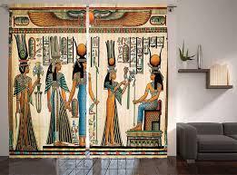 Vorhã Nge Wohnzimmer Tipps ägyptischen Fenster Vorhänge ägyptischer Papyrus Darstellung