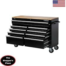 Waterloo 7 Drawer Tool Cabinet by Husky 52 In Tool Chest Box 9 Drawer Rolling Toolbox Storage