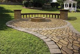 Menards Patio Paver Patterns by Flagstone Patio With Fire Ring Project 3 U0027 8