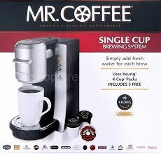 Mr Coffee Single Serve Maker Keurig K Cup Brewing System Machine