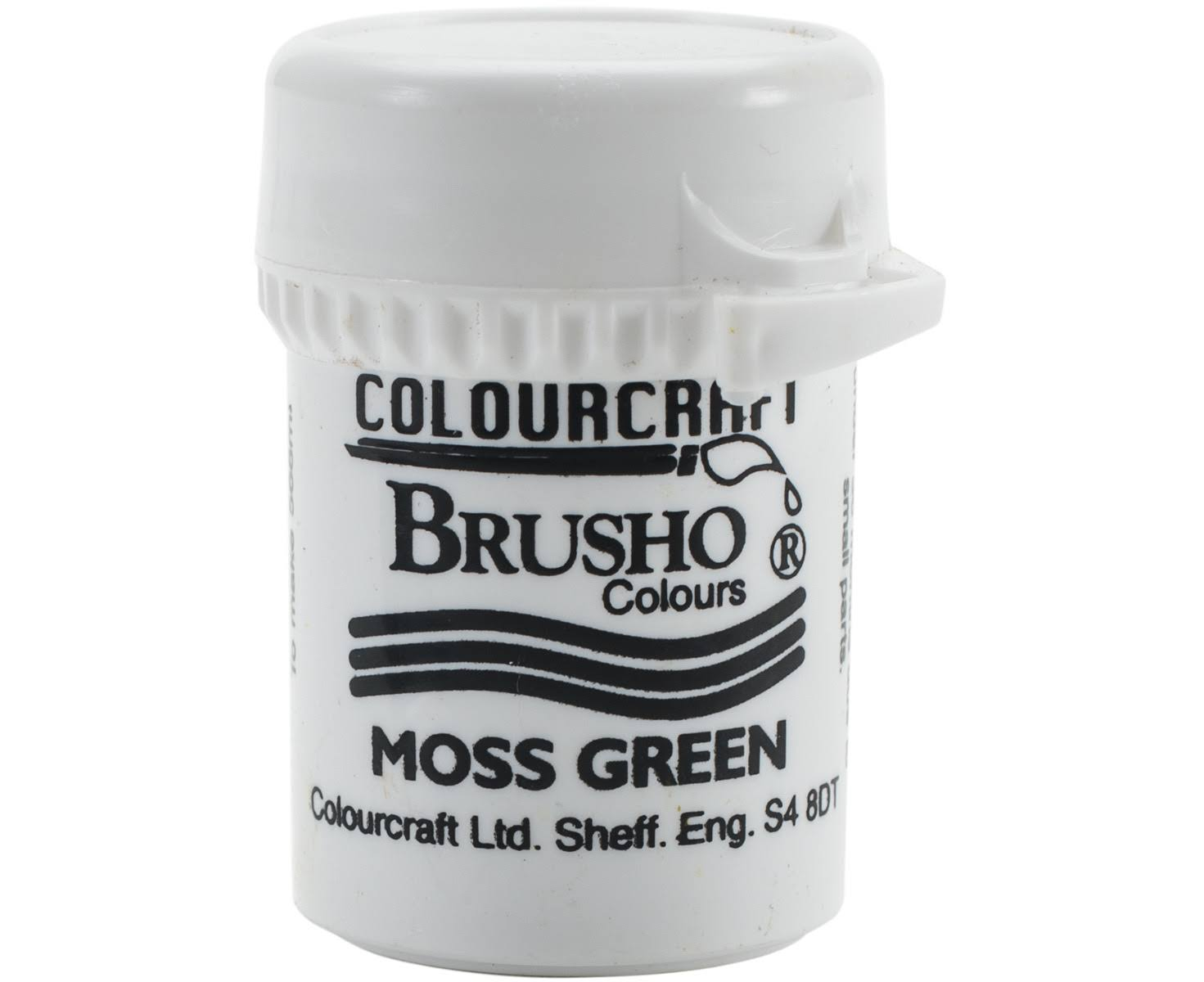 Colourcraft Brusho Crystal Colour - Moss Green, 15g