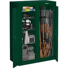 Stack On Security Cabinet 8 Gun by Stack On Convertible Double Door Gun Cabinet U2014 Green Key Lock