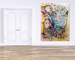 abstrakte kunst freie kunst moderne wohnzimmer homify