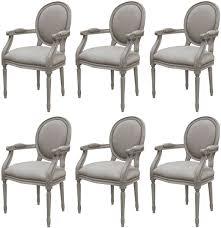 casa padrino luxus barock esszimmer stuhl set medaillon grau 57 x 50 x h 95 cm handgefertigte esszimmerstühle mit armlehnen im barockstil barock