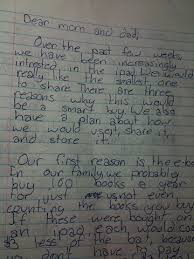 My baby she wrote me a letter … about iPads