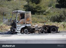 100 Burnt Truck Burnt And Abandoned Along The Road EZ Canvas