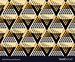 100 Art Deco Shape Triangle Geometric Seamless Pattern Vector SOIDERGI