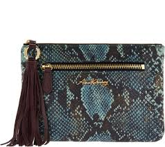 aimee kestenberg rfid leather pouch with tassel florence page 1