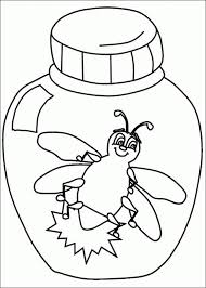L Is For Lightning Bug Coloring Page Preschool