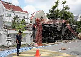 100 Siglap Road 2 Houses Damaged By Toppled Crane In Singapore News