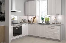 l form küchenblock elbing küchenzeile 10 tlg grau front mdf weiß matt