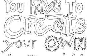 Tumblr Quotes Coloring Pages