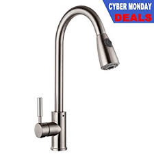 Commercial Kitchen Faucets Amazon by Lordear Commercial Brushed Nickel Stainless Steel Swivel Spout