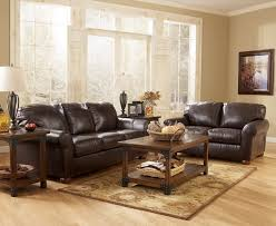 brown leather living room