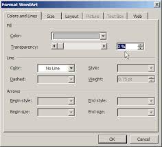 Un Tick The Semitransparent Box When Formatting A Watermark