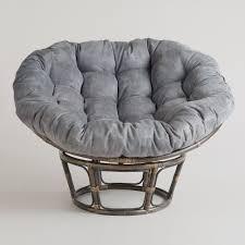 Pier One Papasan Chair Weight Limit by Charcoal Micro Suede Papasan Chair Cushion World Market