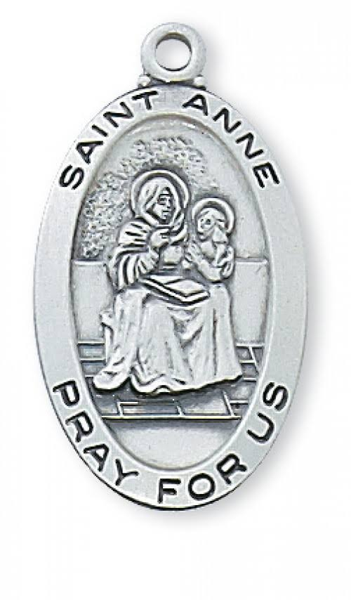 Saint Anne Sterling Silver Medal L500AE